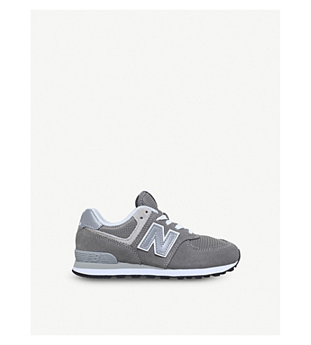 NEW BALANCE 574 suede and mesh trainers 6-9 years (Grey