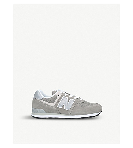 NEW BALANCE 574 suede and mesh trainers 9-10 years (Grey