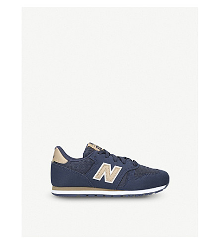 NEW BALANCE 373 suede trainers 6-10 years (Navy