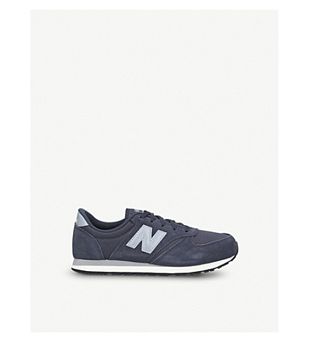 NEW BALANCE 420 suede trainers 6-10 years (Navy