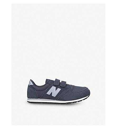 NEW BALANCE 420 suede and mesh trainers 7-10 years (Navy