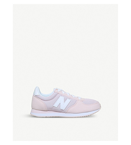 NEW BALANCE 220 low-top suede and mesh trainers (Pink