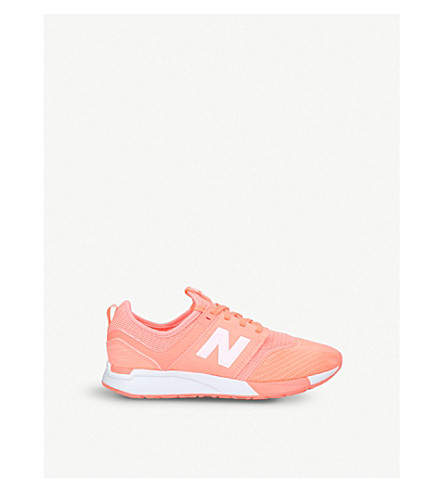 NEW BALANCE 247 low-top mesh trainers 9-10 years (Pink
