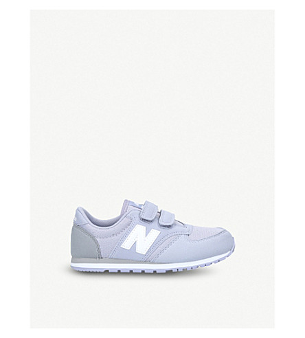 NEW BALANCE 420 suede and mesh trainers 6-8 years (Lilac