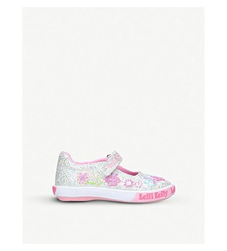 LELLI KELLY Glitter butterfly dolly shoes 3-9 years (Silver