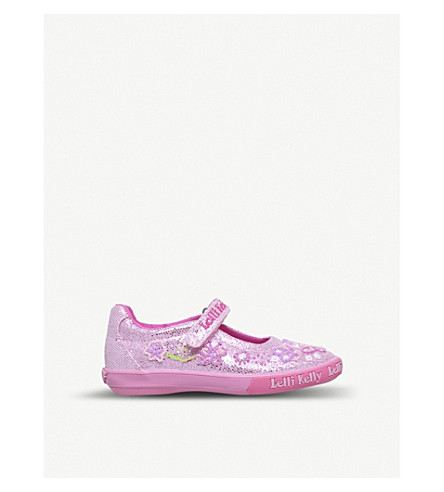 LELLI KELLY Glitter Butterfly dolly shoes 3-9 years (Pink