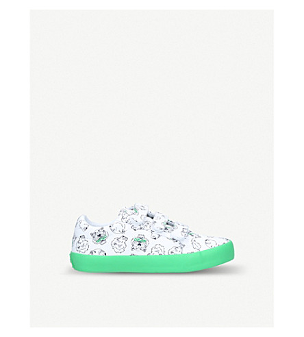 KENZO Dal leather trainers 3-8 years (White/comb