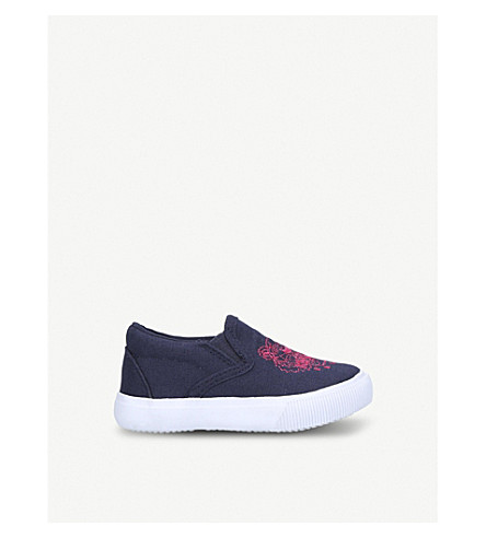 KENZO Dena tiger motif canvas trainers 6 months-4 years (Blue+other