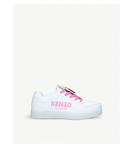 KENZO Danne light-up leather trainers (White/oth