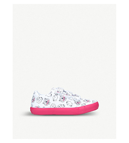 KENZO Dooba leather trainers 8-10 years (White/oth
