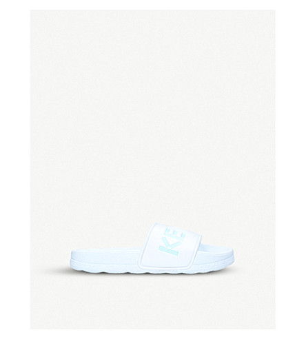 KENZO Logo-print rubber sliders 6-9 years (White/oth