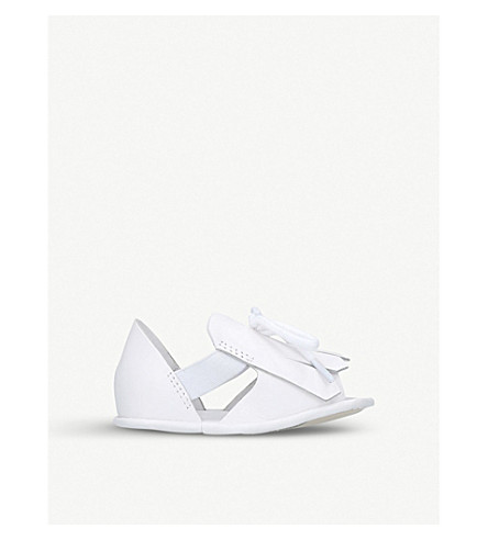 BURBERRY New Dawney leather sandals 0-12 months (White