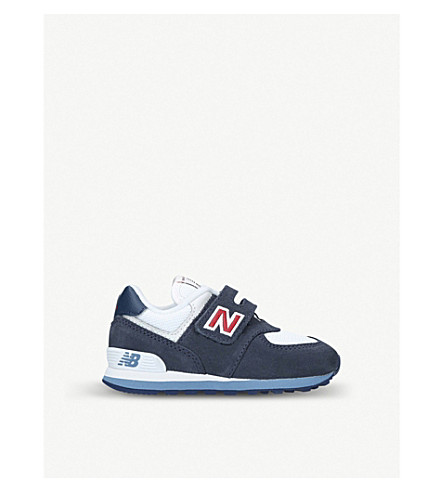 NEW BALANCE 574 suede trainers 2-5 years (Navy