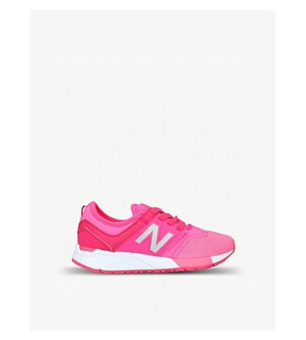 NEW BALANCE 247 leather and mesh trainers 6-8 years (Pink