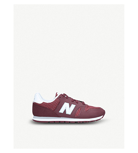 NEW BALANCE 373 patterned leather trainers 1-11 years (Wine