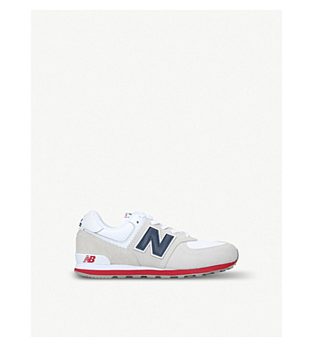 NEW BALANCE 574 suede trainers 6 months-2 years (Grey/p.cmb