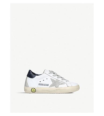 GOLDEN GOOSE 超级巨星 A5 皮革运动鞋6月-5 年 (白色