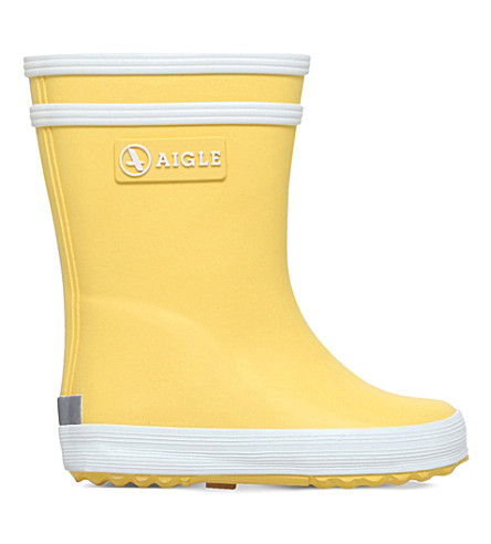 AIGLE Lolly Pop rubber wellington boots 3-11 years (Yellow