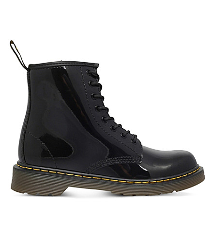 DR MARTENS Brooklee leather boots 2-5 years (Black