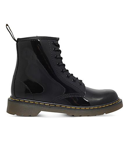 DR MARTENS Brooklee 皮革靴子 2-5 岁(黑色