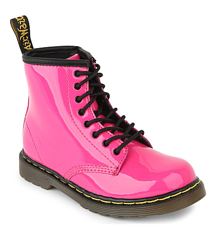 DR MARTENS Brooklee leather boots 2-5 years (Pink