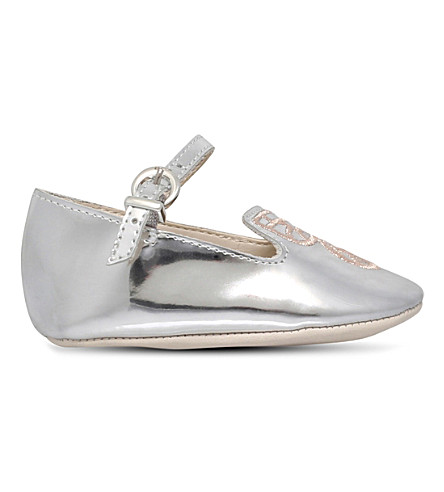 SOPHIA WEBSTER Bibi Butterfly Mini ballet flats 0-2 years (Silver