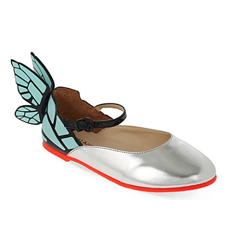 SOPHIA WEBSTER Chiara Mini Mary Janes 2-8 years (Silver