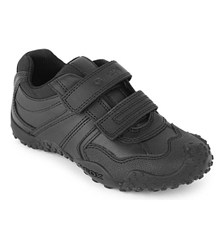 GEOX Giant leather trainers 4-8 years (Black