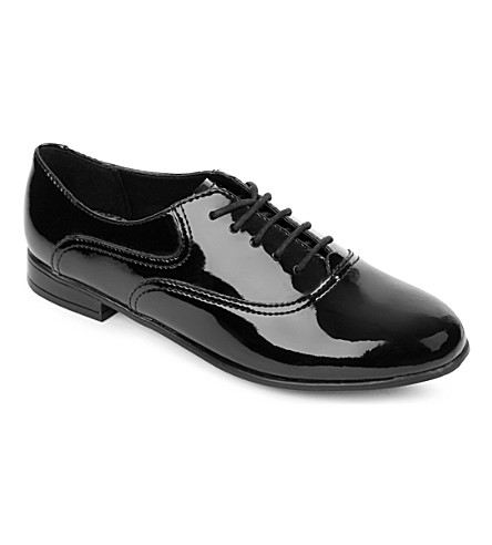 START RITE Angry Angels Runway patent leather brogues 8-13 years (Black