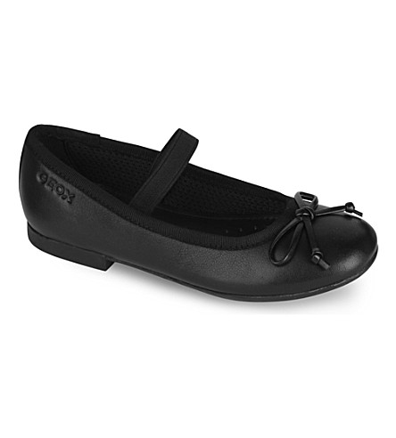 GEOX Plie leather pumps 4-8 years (Black