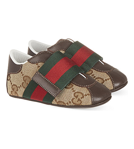 GUCCI Baby icon trainers 0-6 months (Brown