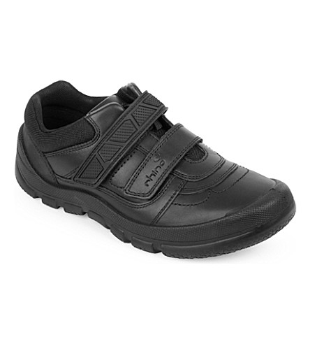 START RITE Rhino Warrior black leather shoes 8-young adult (Black