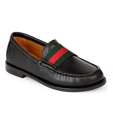 GUCCI James loafers 4-8 years (Black/comb