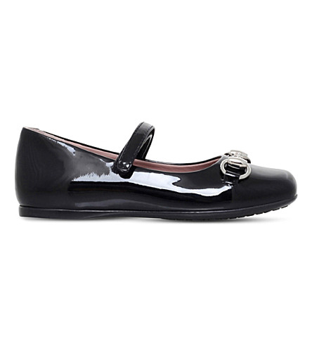 GUCCI Lillian Mary Jane patent-leather shoes 2-4 years (Black
