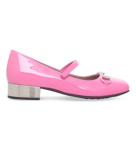 GUCCI Lillian patent-leather shoes 5-8 years (Pink
