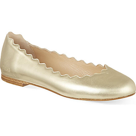 Chloe: Metallic leather pumps 6-9 years - Hiphunters Shop