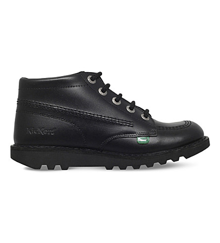 KICKERS Kick Hi leather boots 9-11 (Black