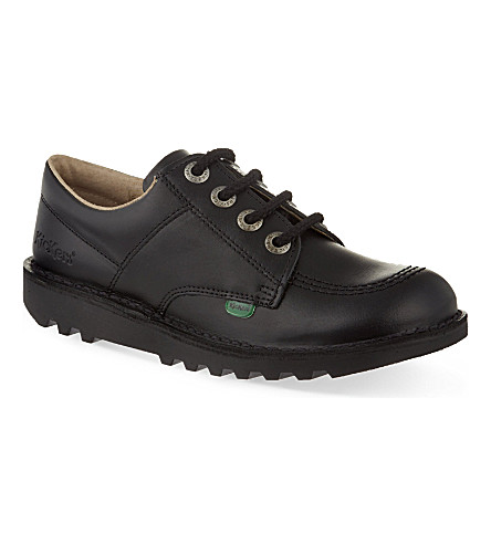 KICKERS Kick Lo leather shoes 7-9 years (Black