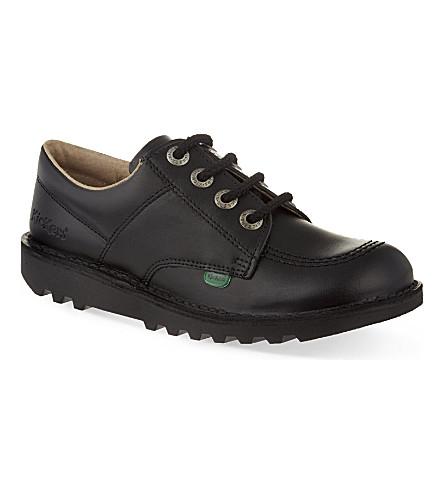 KICKERS Kick Lo leather shoes 7-9 years (Black