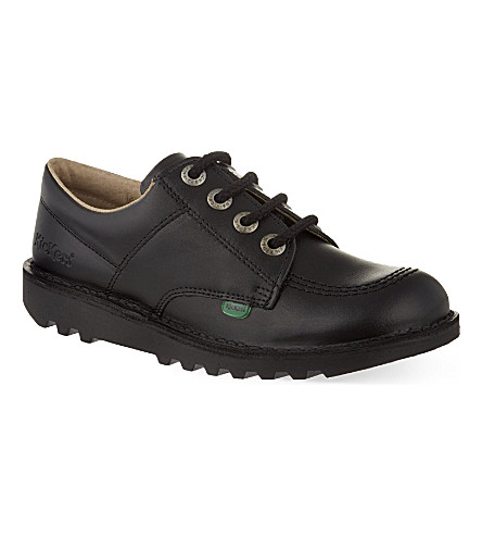 KICKERS Kick leather derby shoes 9-11 years (Black
