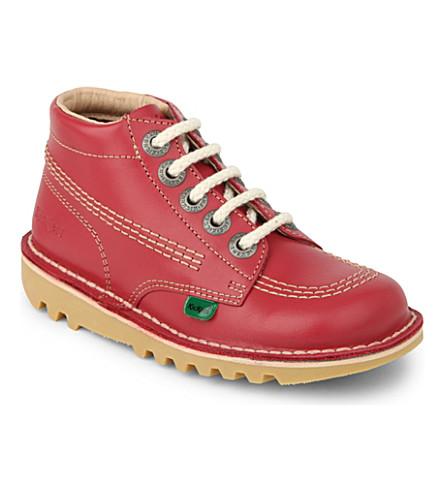 KICKERS Kick hi leather shoes 3-7 years (Pink