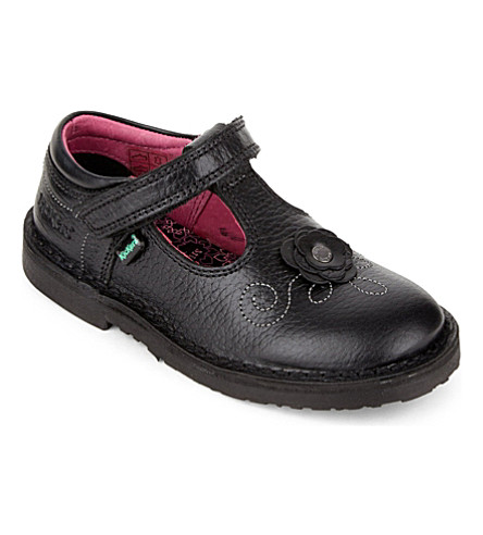 KICKERS Adlar T-bar shoes 2-7 years (Black