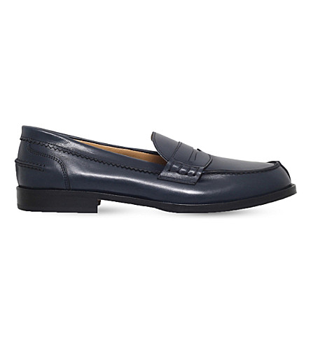 GALLUCCI Leather moccasin loafers 9-12 years (Navy