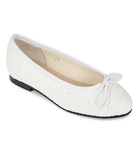 FRENCH SOLE Henrietta ballet flats (White