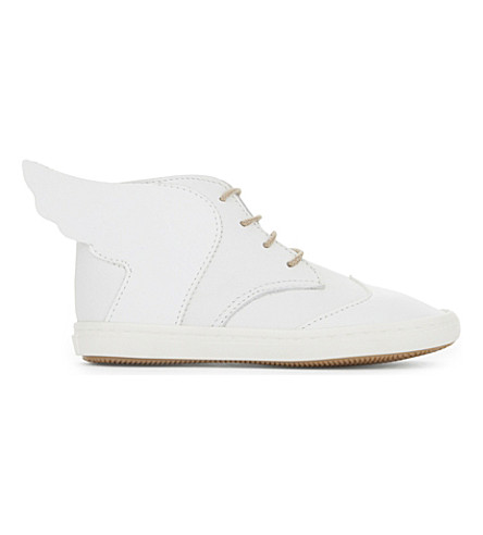 BABYWALKER Teah high-top leather trainers (White
