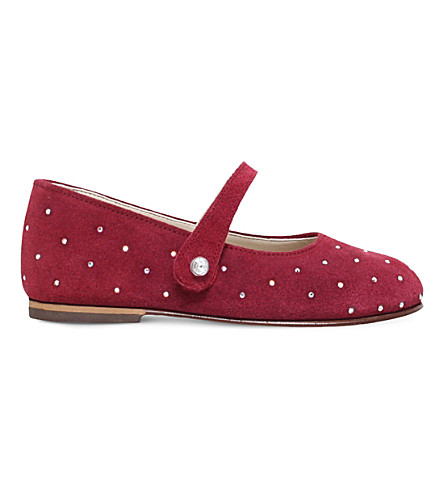 BABYWALKER Luminosa swarvoski mary jane shoes 2-4 years (Red