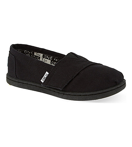 TOMS Classic canvas shoes 3-6 years (Black