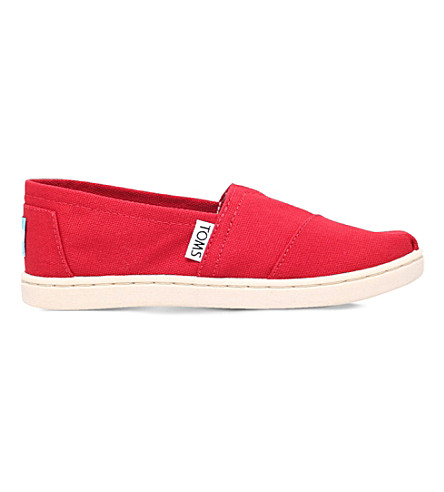 TOMS Classics canvas shoes 7-11 years (Red