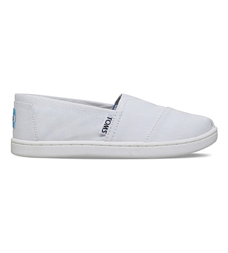 TOMS Classic canvas shoes 6-10 years (White