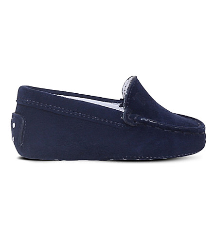 TODS Gommino suede driving shoes 0-12 months (Blue/dark
